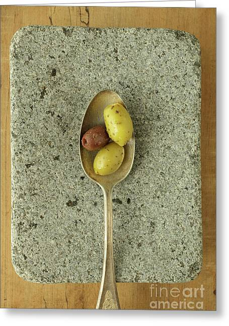 Greek Olives Greeting Card by Edward Fielding