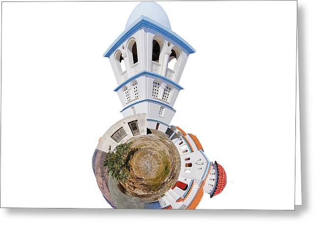 Greek Orthodox Church Greeting Card by Nichola Denny