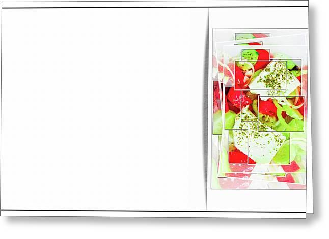 Greek Salad Business Card Greeting Card