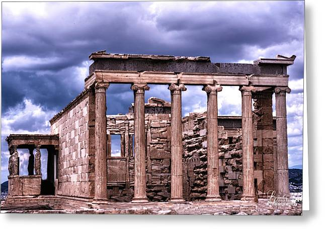 Greeting Card featuring the photograph Greek Temple by Linda Constant