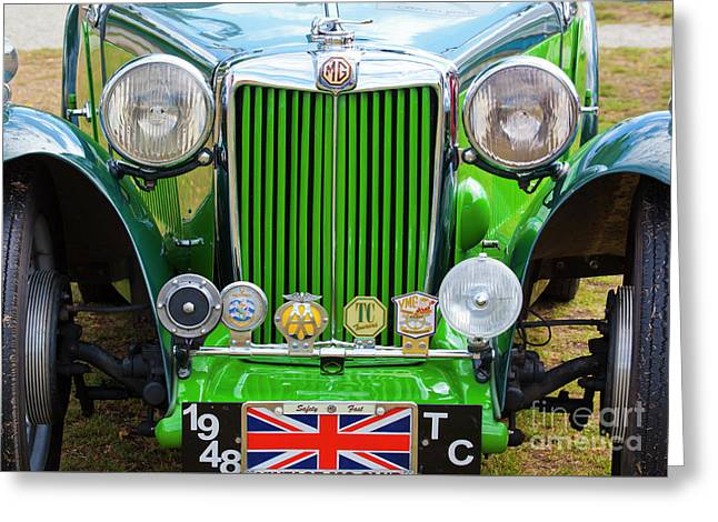 Greeting Card featuring the photograph Green 1948 Mg Tc by Chris Dutton