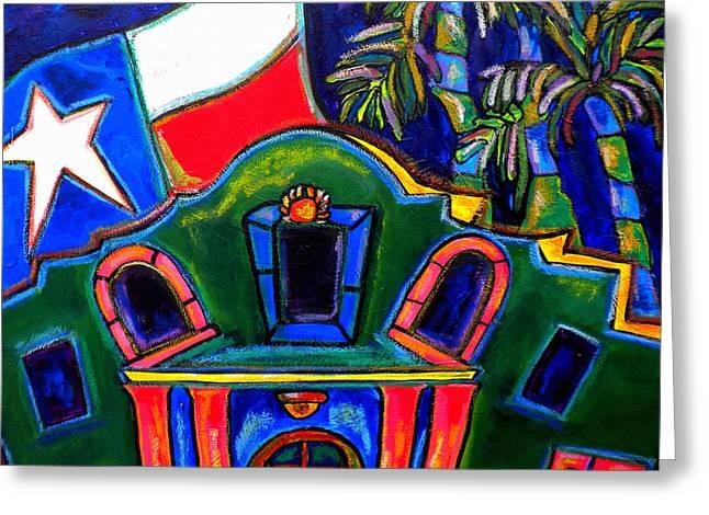 Green Alamo Greeting Card by Patti Schermerhorn
