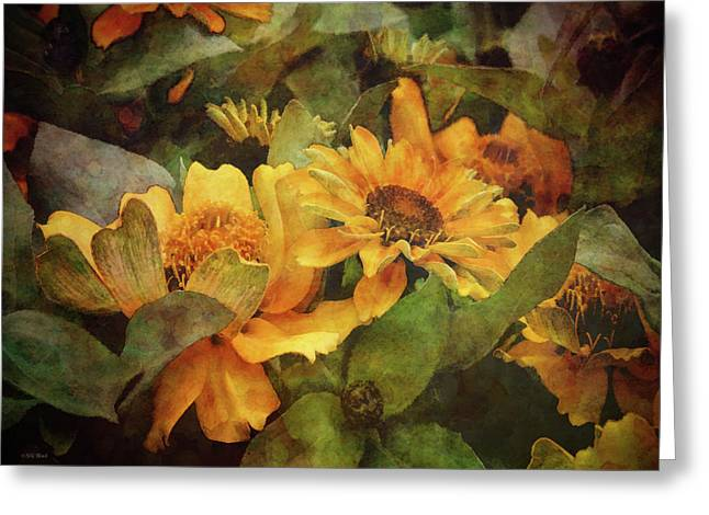 Green And Gold 1068 Idp_2 Greeting Card
