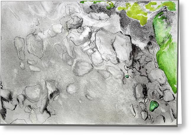 Green And Gray Stones Greeting Card