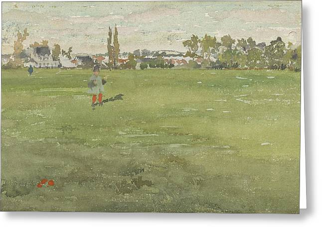Green And Silver Greeting Card by James Abbott McNeill Whistler