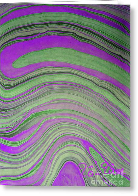 Green And Violet Abstract Greeting Card