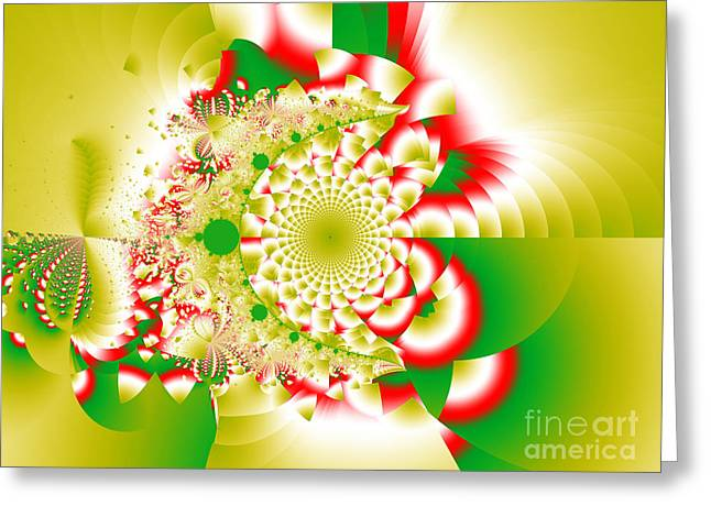 Green And Yellow Collide Greeting Card