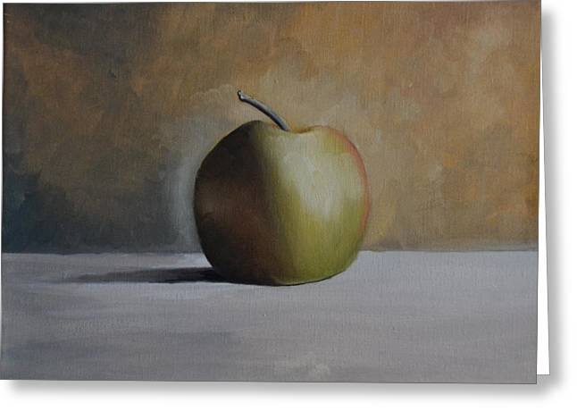 Green Apple Greeting Card by Martin Schmidt