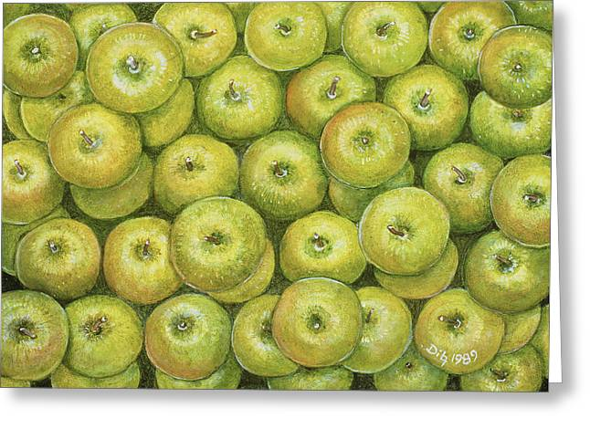 Green Apple Spread Greeting Card by Ditz