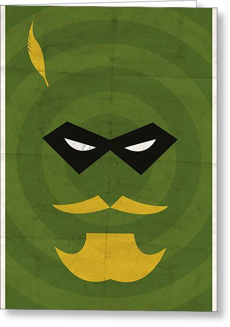 Green Arrow Greeting Card by Michael Myers
