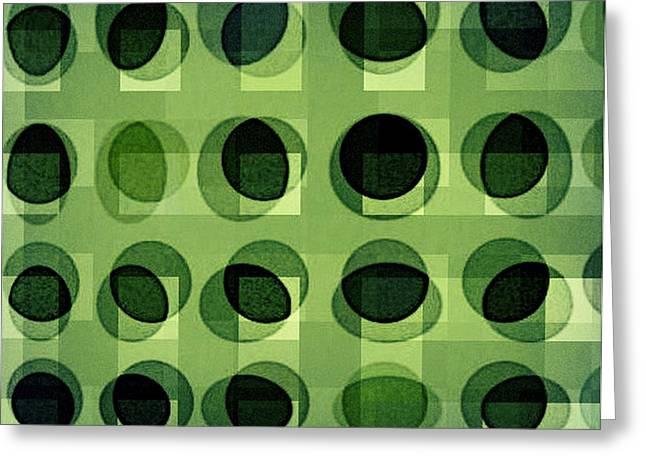 Green Astigmatism Greeting Card by Teodoro De La Santa