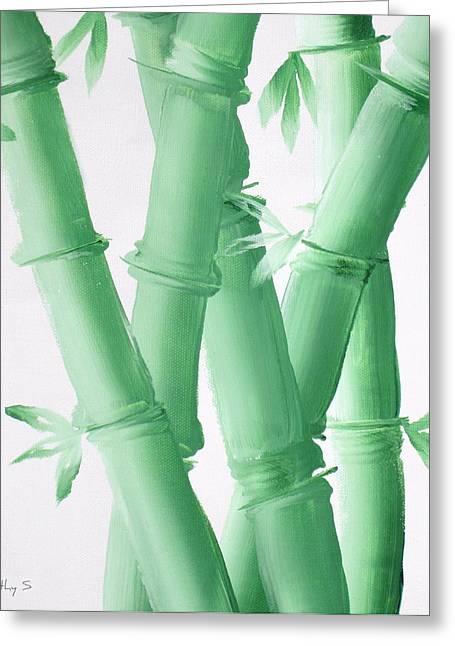 Green  Bamboo Greeting Card