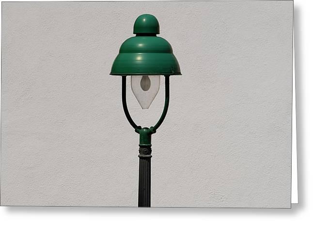 Green Bavarian Lamp Greeting Card