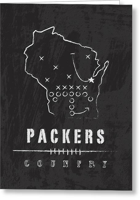 Green Bay Packers Art - Nfl Football Wall Print Greeting Card by Damon Gray
