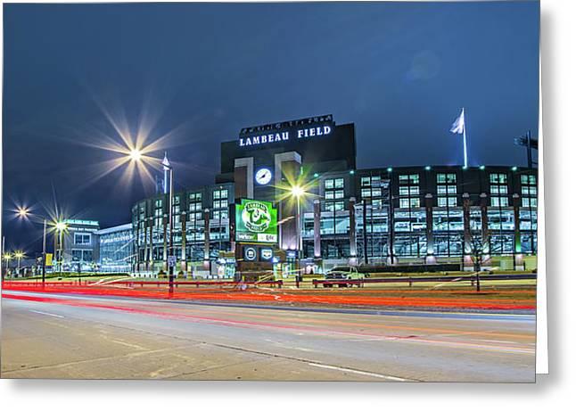 Green Bay Wisconsin - Lambeau Field - Green Bay Packe Greeting Card