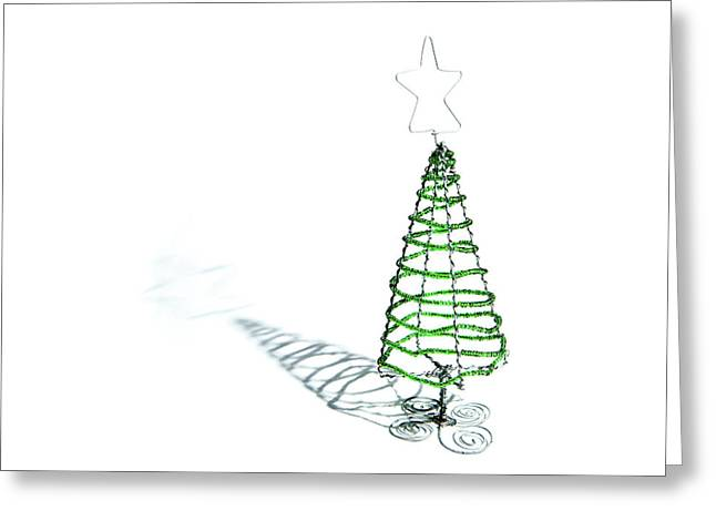 Green Bead Christmas Tree II Greeting Card
