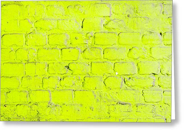 Green Brick Wall Greeting Card