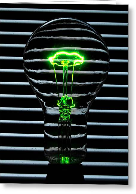 Green Bulb Greeting Card