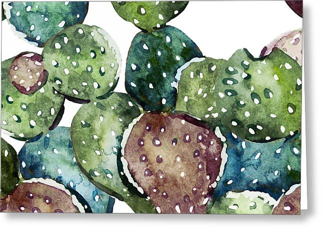 Green Cactus  Greeting Card by Mark Ashkenazi