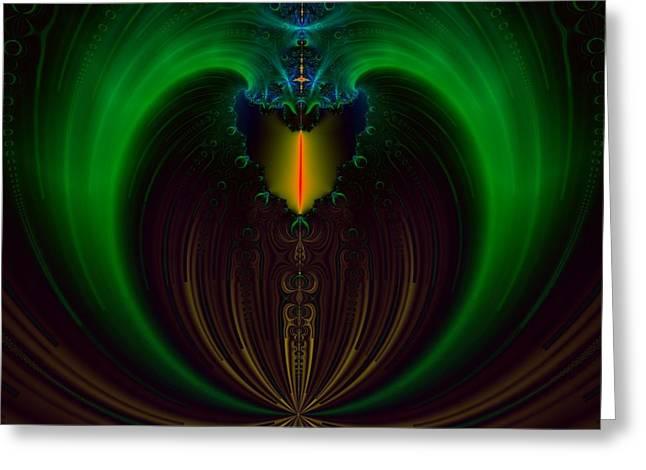 Green Candle Greeting Card by Sfinga Sfinga