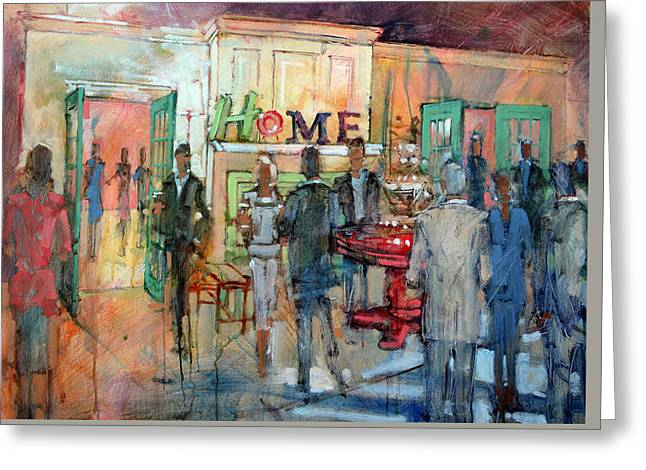 Green Chair Home Greeting Card