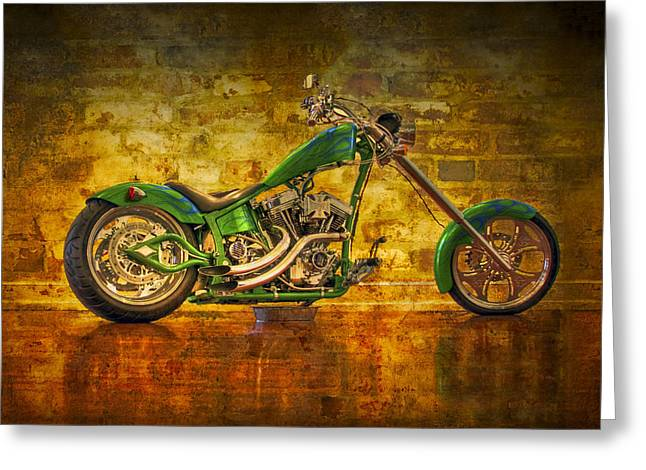 Green Chopper Greeting Card by Debra and Dave Vanderlaan