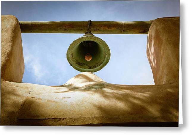 Green Church Bell Greeting Card