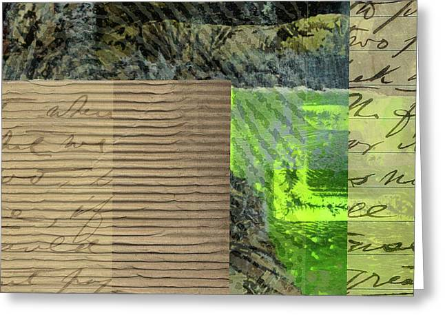 Green Collage No. 6 Greeting Card