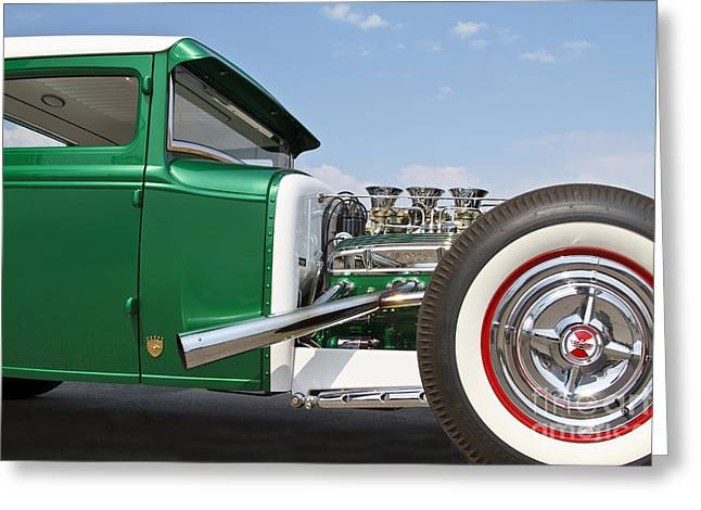 Green Coupe Greeting Card by Dennis Hedberg