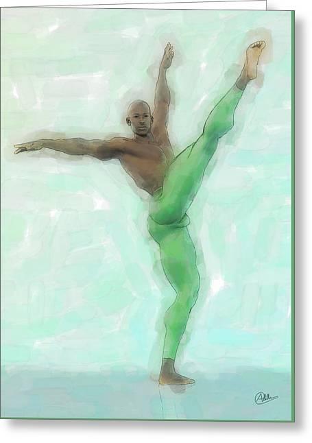 Green Dancer Greeting Card