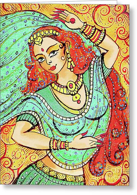 Green Devi Greeting Card