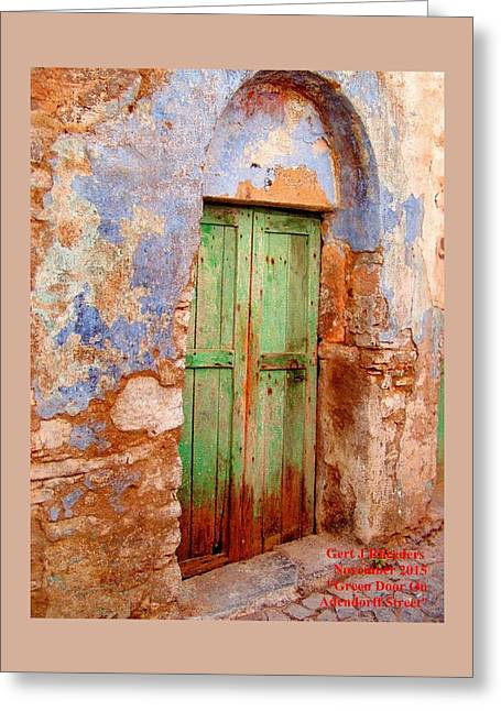 Green Door On Adendorff Street. H A Greeting Card