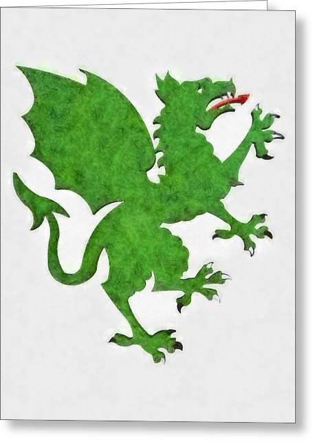 Green Dragon By Pierre Blanchard Greeting Card