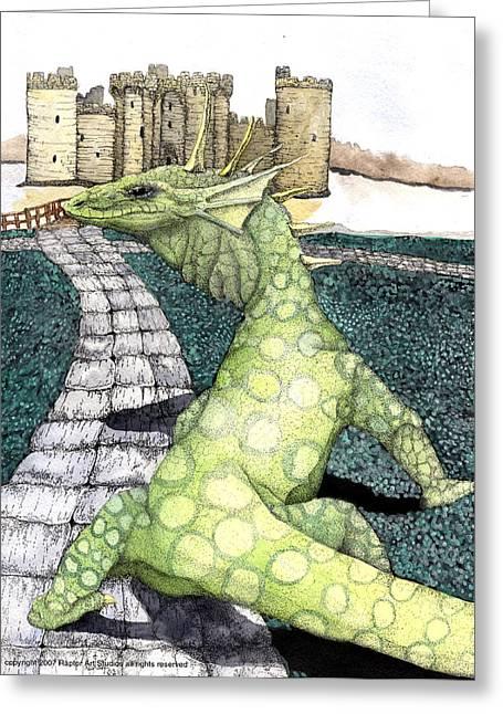 Green Dragon Greeting Card by Preston Shupp