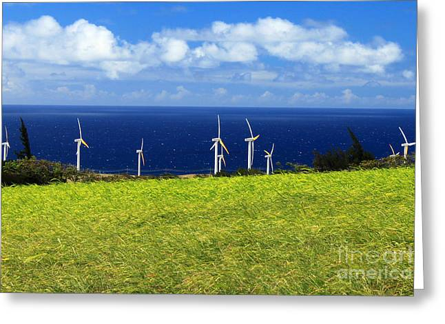 Generators Greeting Cards - Green Energy Greeting Card by James Eddy