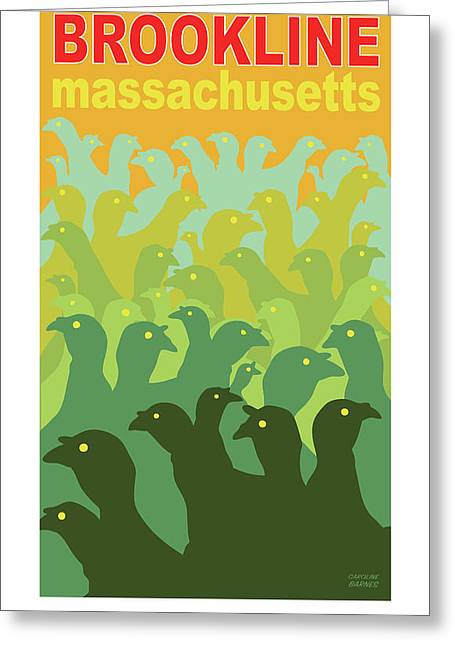 Green Fields Of Brookline Greeting Card