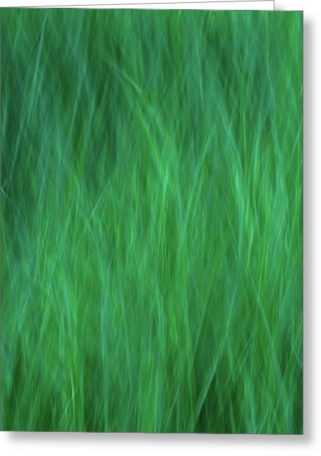 Green Fire 2 Greeting Card