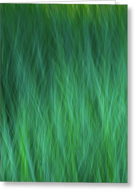 Green Fire 3 Greeting Card
