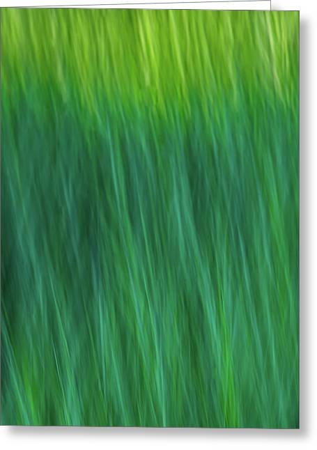 Green Fire 4 Greeting Card