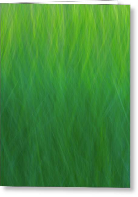 Green Fire 7 Greeting Card