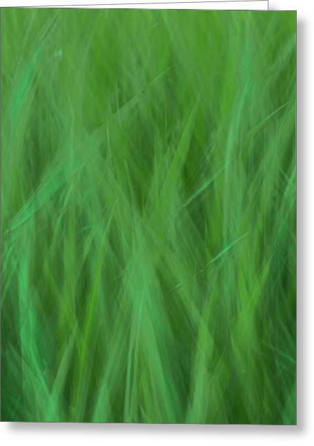 Green Fire 8 Greeting Card