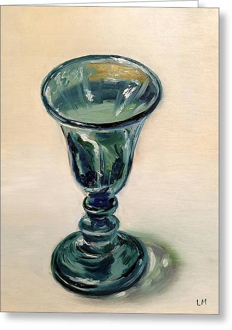 Green Glass Goblet Greeting Card