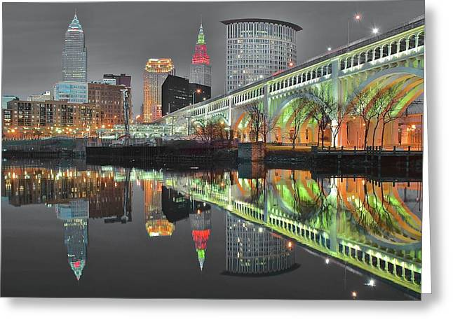 Greeting Card featuring the photograph Green Glow by Frozen in Time Fine Art Photography