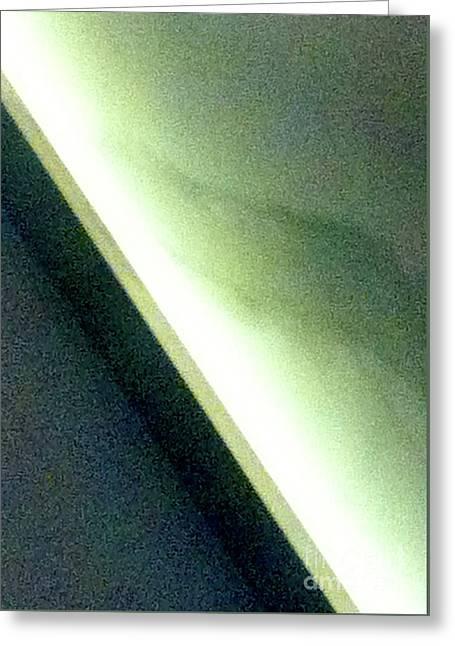 Green Gray And Blue Gray 1 Abstract Greeting Card