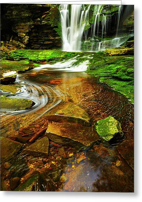 Green Grotto Greeting Card