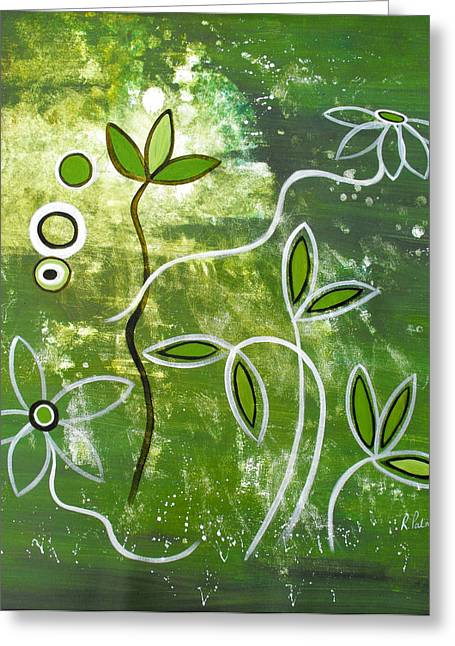 Green Growth Greeting Card by Ruth Palmer