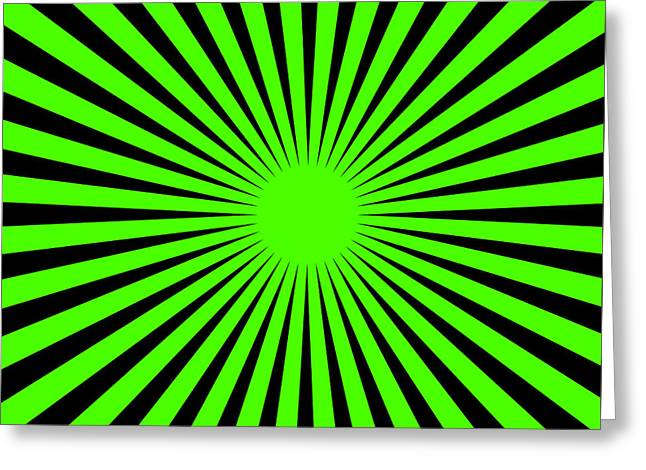 Greeting Card featuring the digital art Green Harmony by Lucia Sirna