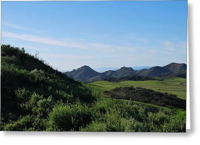 Greeting Card featuring the photograph Green Hills Landscape by Matt Harang