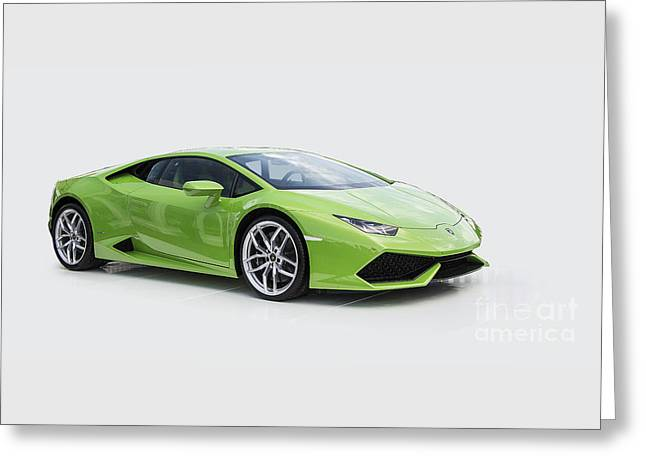 Green Huracan Greeting Card