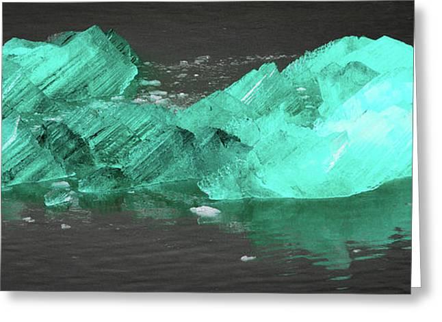 Green Iceberg Greeting Card